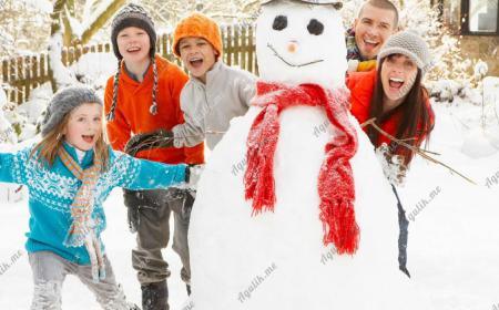 Активный отдых с детьми зимой